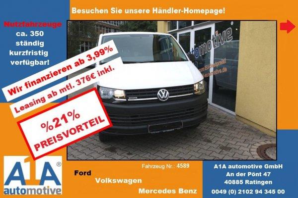 VW T6 Transporter Kasten *Kli*CC*BT*Rrad*elFe*PDC*