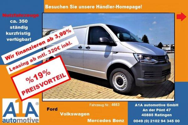 VW T6 Transporter Kasten 2.0 TDI !Kli*BT*PDC*HFT!