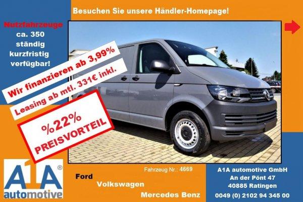 VW T6 Transporter Kasten lang !Rrad*DoSi*Kli*BT*ZV*HFT!