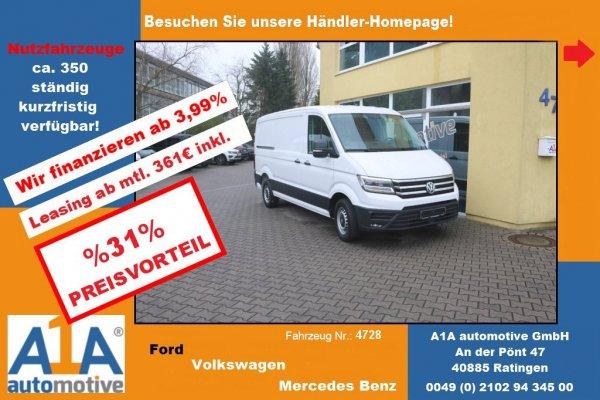 VW CRAFTER 30 Kasten Flachdach !Kli*Rrad*el.Au*DoSi*PDC!