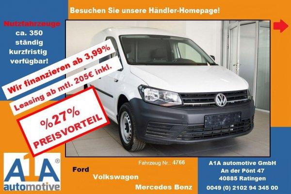 VW Caddy Kasten 2.0 TDI !GuBo*Kli*HFT*PDC!