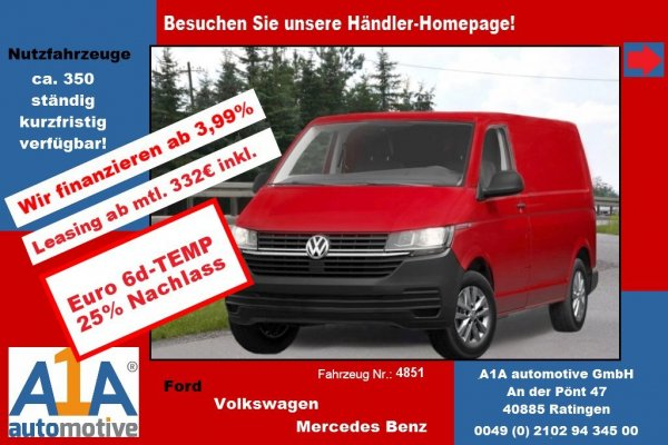 VW T6 Transporter 2.0 TDI T6.1, 4MOTION 3400 mm