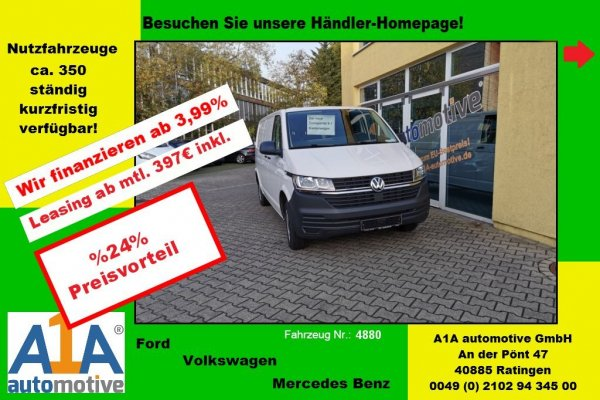 VW T6 Transporter 2.0 TDI T6.1 Kasten 3400 mm *Kli*HFT*PDC*Rrad*