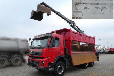 VOLVO (S) Truck FMX 450/6x4 PENZ-Kran 11 LR 8,20 am Heck