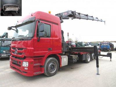 Mercedes-Benz Actros 2544 L  6x2 Hiab XS477, 47m/t